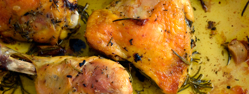Pollo arrosto erbe