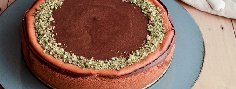 Cheesecake gianduia e pistacchi