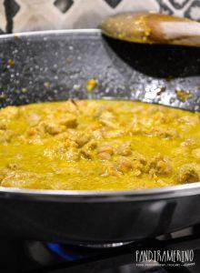 Pollo ceci e curry